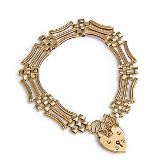 Vintage bracelet with Haert padlock