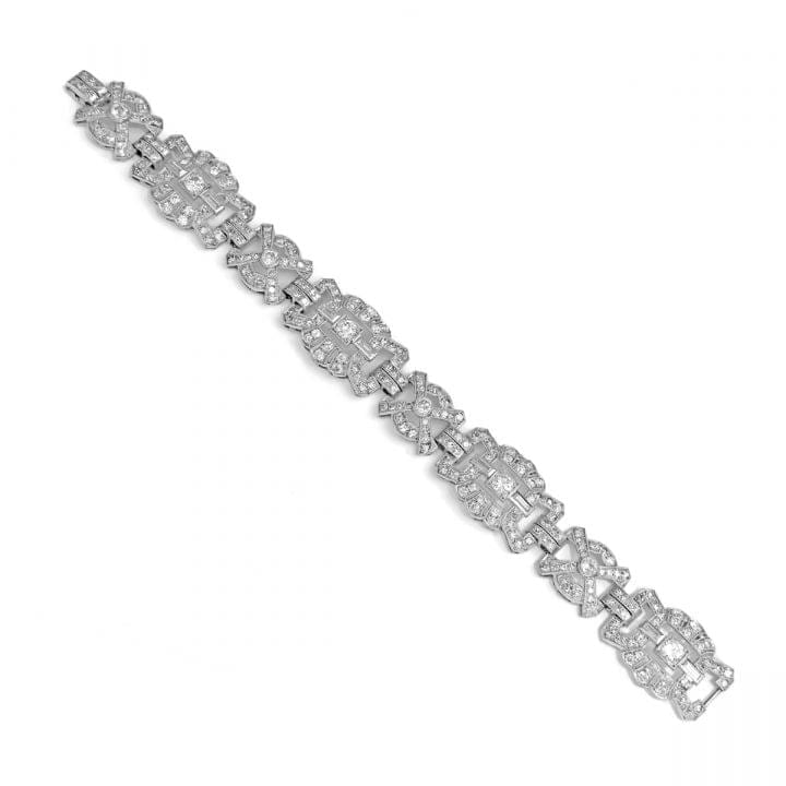 Vintage Art Deco Diamond 10ct Bracelet